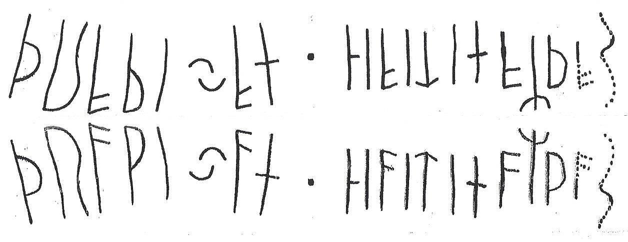 Die originale Schrift des Kalleby-Steines